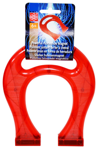 8.5 Inch Giant Translucent Red Horseshoe Magnet