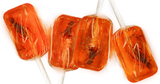 Hotlix InsectNSide Sucker, Amber Toffee - Pack of 4 Candy Lollipops with Real Bug
