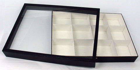 Deluxe Exhibit Case 12 x 16 Inches with 12 Compartments