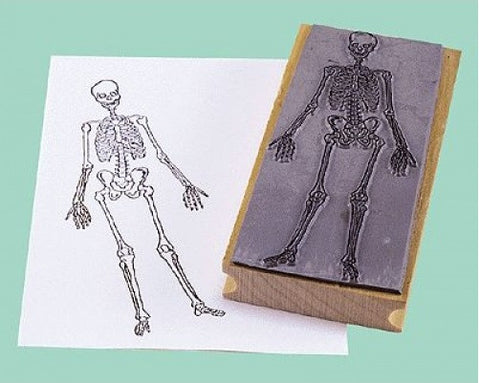 Human Skeleton Rubber Stamper