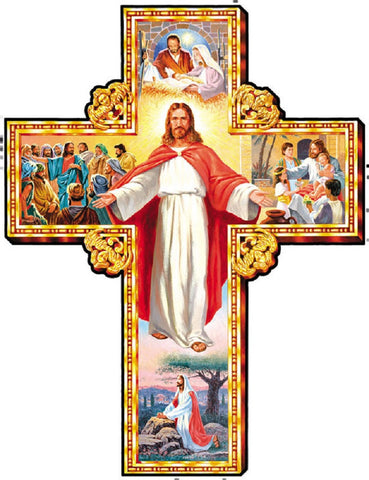 I Am With You Cross Shaped Christian Jigsaw Puzzle 1000 Piece