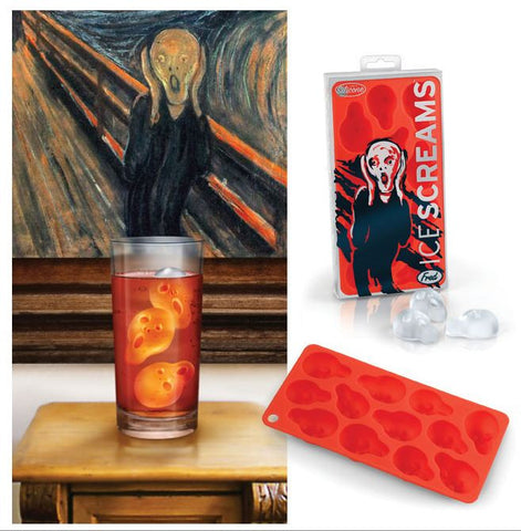 Ice Screams Mold Ice Cube Tray From Edvard Munch's The Scream