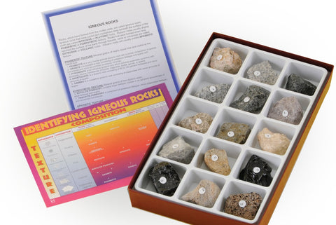 Rock Mineral Study Kit With Igneous Sedimentary & Metamorphic Specimens
