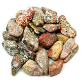 Bulk Tumbled Leopard Skin Jasper Stone Specimens - 1 Pound (100+ Pc)