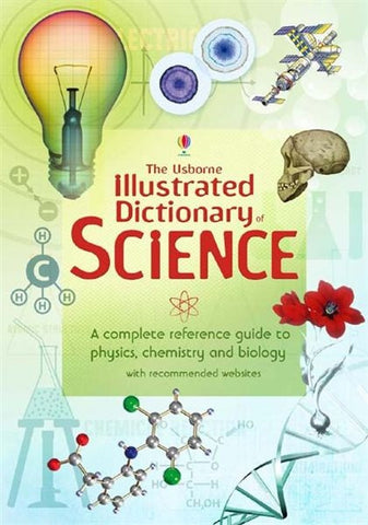 Illustrated Dictionary of Science Book Physics Chemistry Biology