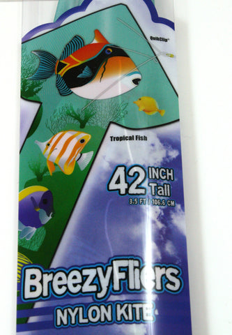 42 Inch Tall Wind 'n Sun BreezyFliers Tropical Fish Kite