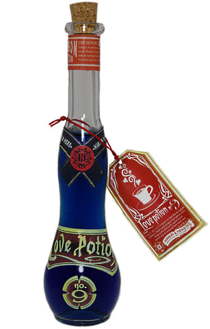 Love Potion No. 9 Vintage Style Glass Bottle w/Cork Stopper