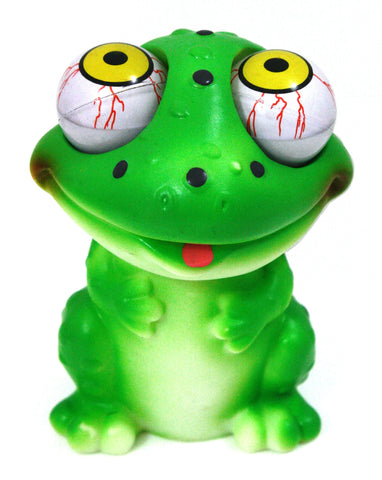 Pop-Eyes Squeeze Me Smiling Frog Toy