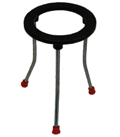 6 Inch Tall Cast Iron Tripod Ring Support Stand w/Non-Skid Feet