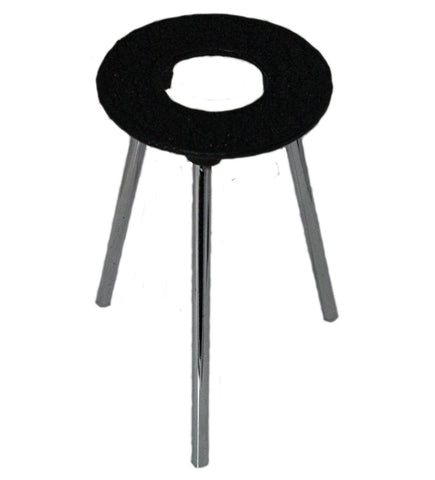 "6 Inch Tall Cast Iron Support Stand w/3.5"" Diameter Ring"