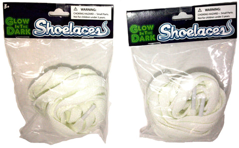40 Inch Glow in the Dark Shoelaces - 2 Pairs