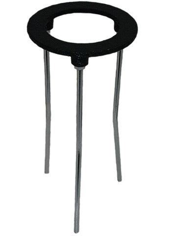 9 Inch Tall Tripod Burner Stand w/4 Inch Cast Iron Support Ring