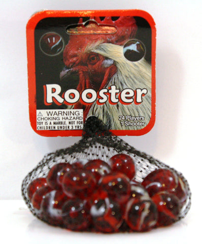 Rooster Game Net Set 25 Piece Glass Mega Marbles
