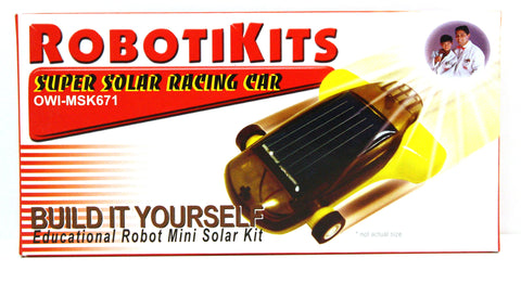 Robotikits Super Solar Racing Car Kit - Mini Race Car
