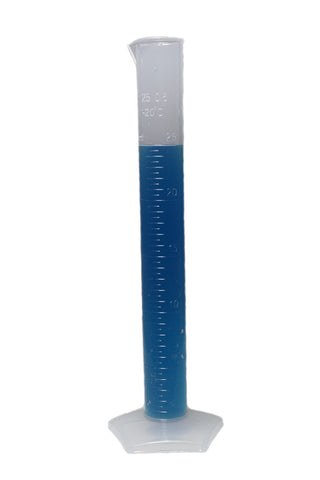 25mL Polypropylene Measuring Cylinders w/Pentagonal Base - Pack of 10 Plastic Graduated Cylinders