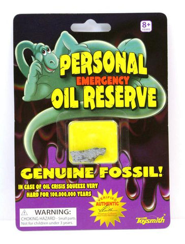Personal Brontosaurus Fossil Emergency Oil Reserve, Pack of 6