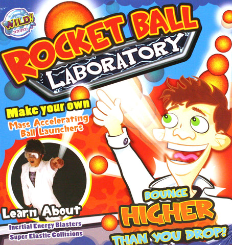 Wild Science Rocket Ball  Laboratory - Create Your Own High Bounce Balls