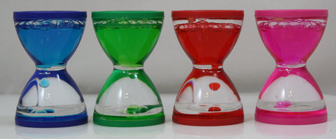 Liquid Motion Spiral Drop Mini-Hourglass Timer by Tedco - Colors Vary