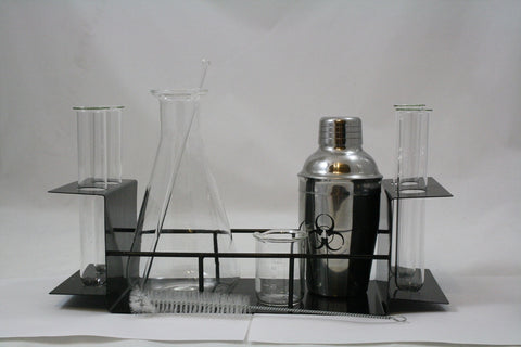 Chemistry Themed Cocktail 10 Piece Bar Set