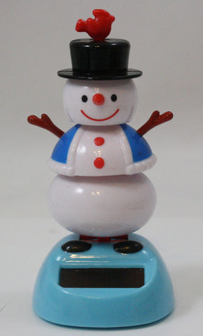 Solar Powered Dancing Holiday Snowman w/Hat and Jacket
