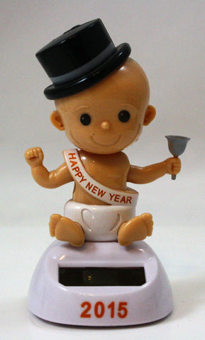 Solar Powered Dancing New Years Baby - 2015 Edition