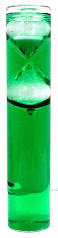 5 Minute Water and Sand Hourglass Timer w/Green Liquid