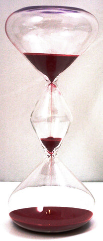 30 Minute Triple Globe Hourglass Timer w/Red Sand