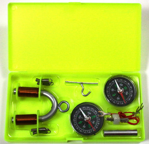 Electromagnet Kit for High School Students w Magnets, Compasses, etc
