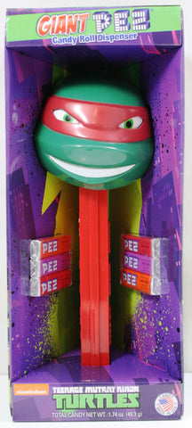 Giant Teenage Mutant Ninja Turtle Pez Dispenser w/Sounds & PEZ Candy