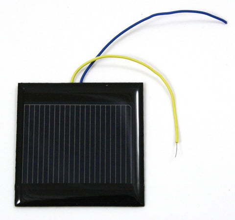 "2.25x2.25"" Solar Cell w/Leads and Teacher's Guide - 0.5V/500mA"