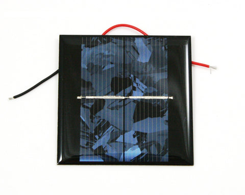 "2.6x2.6"" Solar Cell w/Leads and Teacher's Guide - 1V/400mA"