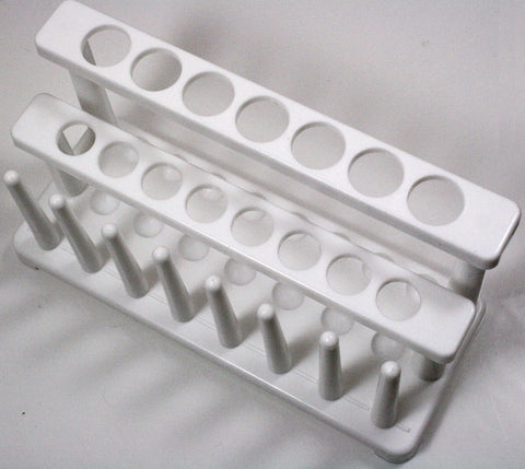 Two Tier Plastic Test Tube Rack - 15 Place