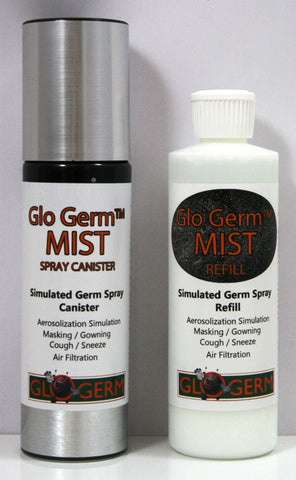Glo Germ MIST Non-Aerosol Simulated Germ Combo Pack w/Gel & Spray Canister