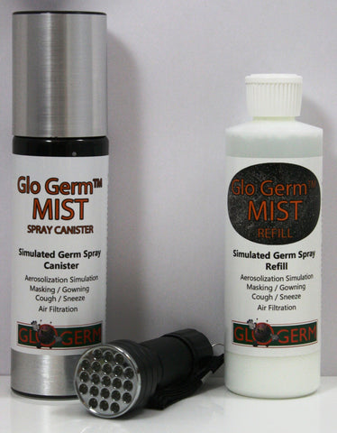Glo Germ Basic MIST Non-Aerosol Simulated Germ Kit w/UV Blacklight