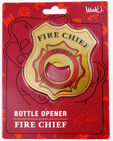 Fire Chief Thirst Extinguisher Bottle Opener