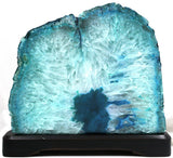 Large Agate Geode Lamp 9 x 7.5 Inches - Teal