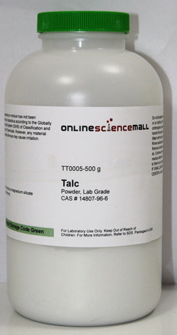 Talc Powder, 500g - Lab Grade Chemical Reagent