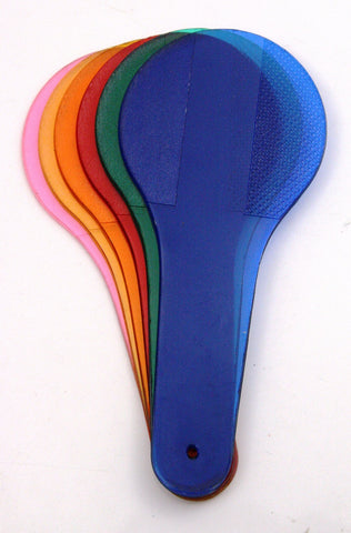 Set of 6 Color Paddles - 3 Primary & Secondary Colors, w/Teacher's Guide