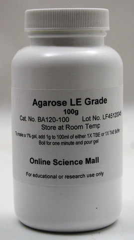 100g Agarose Powder, Electrophoresis Grade LE - Online Science Mall