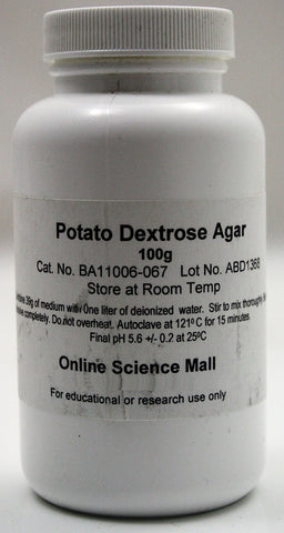 100g of Dehydrated Potato Dextrose Agar Powder - Online Science Mall