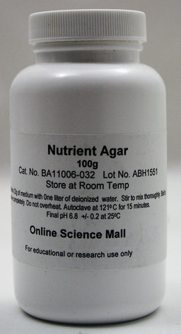 100g of Dehydrated Nutrient Agar Powder - Online Science Mall
