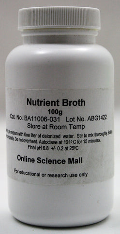 100g Bottle of Dehydrated Nutrient Broth Powder - Online Science Mall
