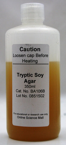 350mL Bottle of Ready-to-Pour Tryptic Soy Agar