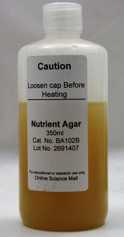 350mL Bottle of Ready-to-Pour Nutrient Agar