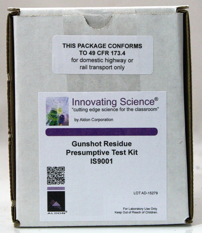 Forensic Chemistry Presumptive Gunshot Residue Presumptive Test Kit - Classroom Kit