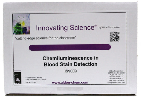 Forensic Chemistry: Chemiluminescence in Blood Stain Detection Classroom Kit