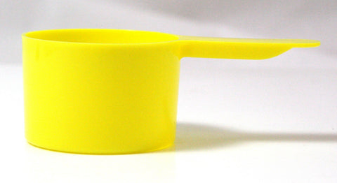 1 Ounce (30mL) Yellow Plastic Measure, Case of 1100 Measuring Scoops - Online Science Mall