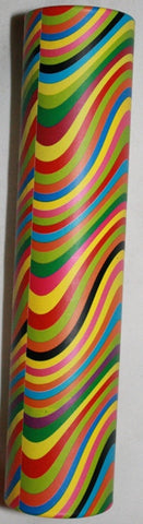 6.5 inch Kaleidoscope Colorful Stripes Optical Illusion Print