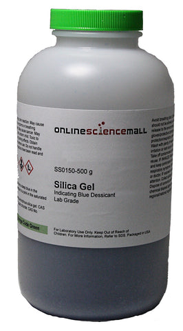 Silica Gel (Indicating Blue Desiccant), 500g - Lab Grade Chemical Reagent