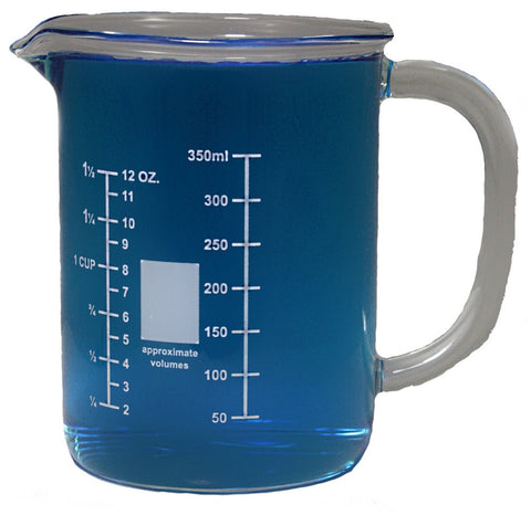 400mL Glass Beaker Mug with Pouring Spout